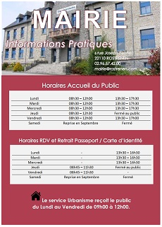 horaires mairie