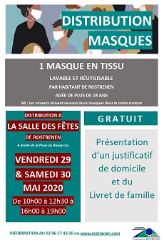 distribution de masques